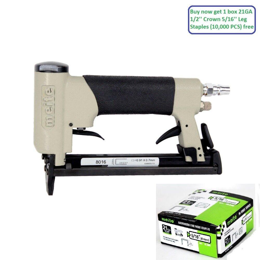 Meite 8016F 21GA Pneumatic Upholstery Stapler Air power Stapler Air Stapler Gun