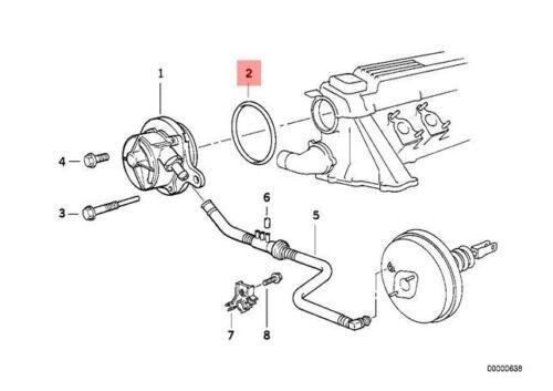 Genuine BMW e36 325tds m51 e34 e39 530d m57 e60 Vacuum Pump O-Ring 11667794767