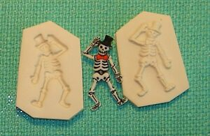 Full Body Skeleton W/ Top Hat Gothic Polymer Clay Push Mold 0 S/H AFTER 1st item