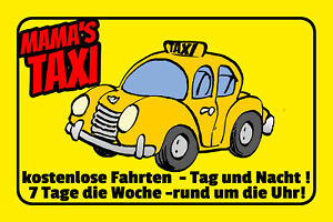 Mama ´S Taxi Tin Sign Shield Arched Metal 20 X 30 CM W1164