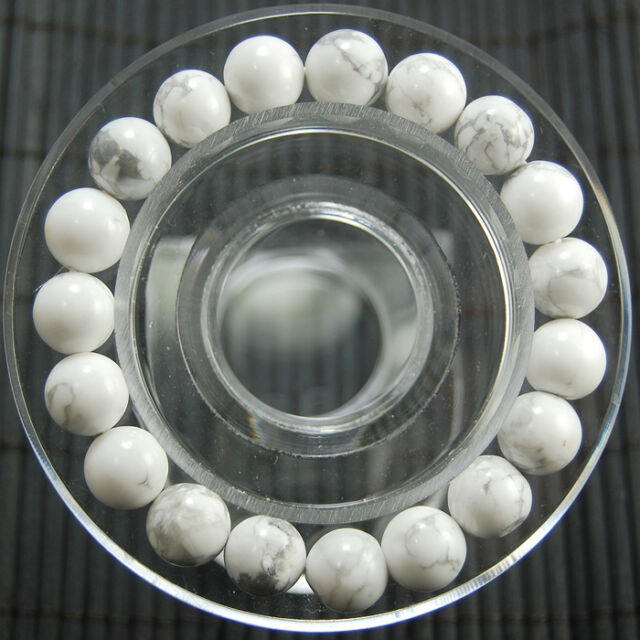"Handmade 6mm Natural Round Beads Stretch Charm Bracelet Jewelry 7""/7.5""/8""/8.5"