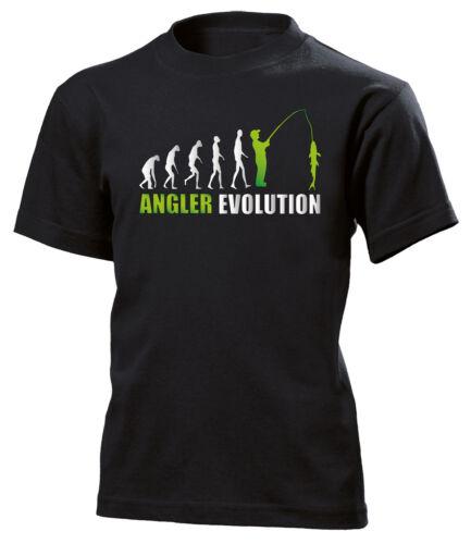 ANGLER EVOLUTION KINDER T-Shirt 140 bis 164 Vers Farben