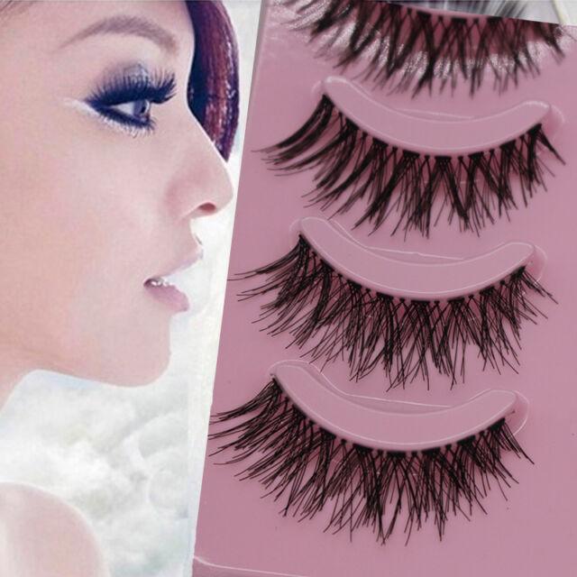 Long Thick Cross 5Pairs Makeup Beauty False Eyelashes Eye Lashes Extension