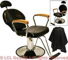 All Purpose Hydraulic Oak Arm Reclining Barber Chair Shampoo Spa Salon Equipment