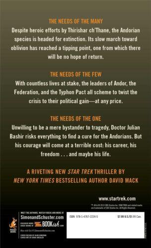 "1 of 1 - ""VERY GOOD"" Mack, David, The Fall: A Ceremony of Losses (Star Trek), Book"