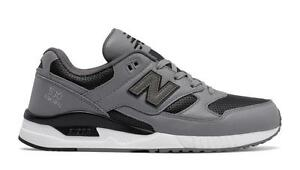 cheap for discount 8b3e7 fb29c Image is loading NEW-BALANCE-CLASSICS-530-LUX-LEATHER-M530VTA-STEEL-