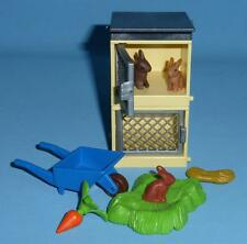 Playmobil Double Stacking Rabbit Hutch & accessories farm house animal pets