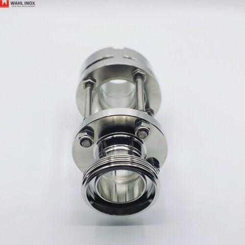 Schaulaterne Gewinde//Kegel Milchrohr 1.4301 DIN Edelstahl Borosilikatglas