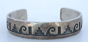 Hopi-Overlay-Native-American-sterling-silver-cuff-bracelet-Cyrus-Josytewa