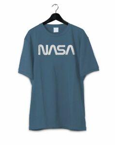 a8a105834 Men's Retro Vintage NASA Worm Logo Premium Soft T-Shirt | eBay