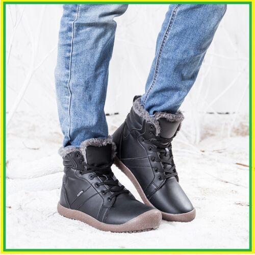 Men Women shoes Winter PU Waterproof Wear-resistant Snow boots Keep warm Soft