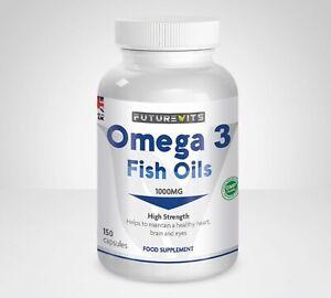 Omega-3-olio-di-pesce-1000mg-ad-alta-resistenza-150-Soft-Gel-EPA-DHA-futurevits-Capsule