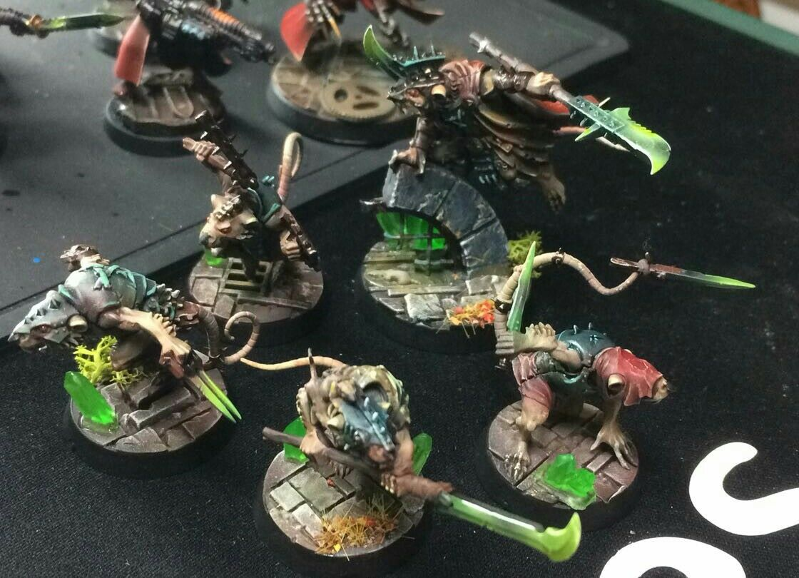 Warhammer unterwelt shadespire skaven spiteclaw gemalt