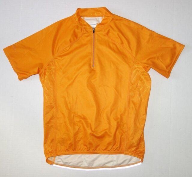 Cannondale Cycling Jersey Women Small Orange Short Sleeve 1/2 Zip Pockets