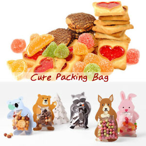Cute-Cartoon-Animal-Sacs-Cadeau-Cookie-Candy-Sac-Boite-de-cartes-de-voeux-FETE-10PCS