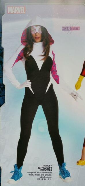 MARVEL Comics Licensed XS SM MD LG Deluxe SPIDER GWEN COSTUME Set Cosplay