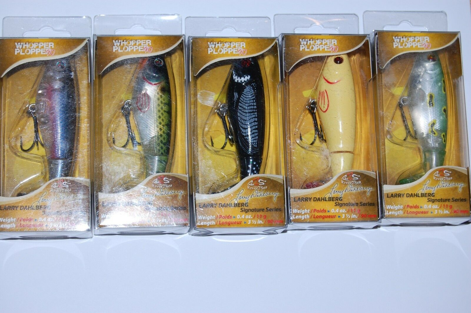 5 lures river2sea bass topwater whopper plopper 90 3 1  2  .4oz assortment  just for you