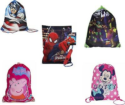Kids cordón Swim Zapatillero Pepper Pig Spiderman Capitán América Bolsas.