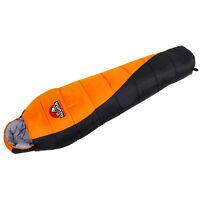 Azuma Festival 3 Season Outdoor Camping Sleeping Bag Black & Orange - Left Zip