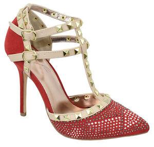 Rivera-Women-Stiletto-Heel-Pointy-Toe-Studded-Pumps-Rhinestone-Bling-Red-ADORA64