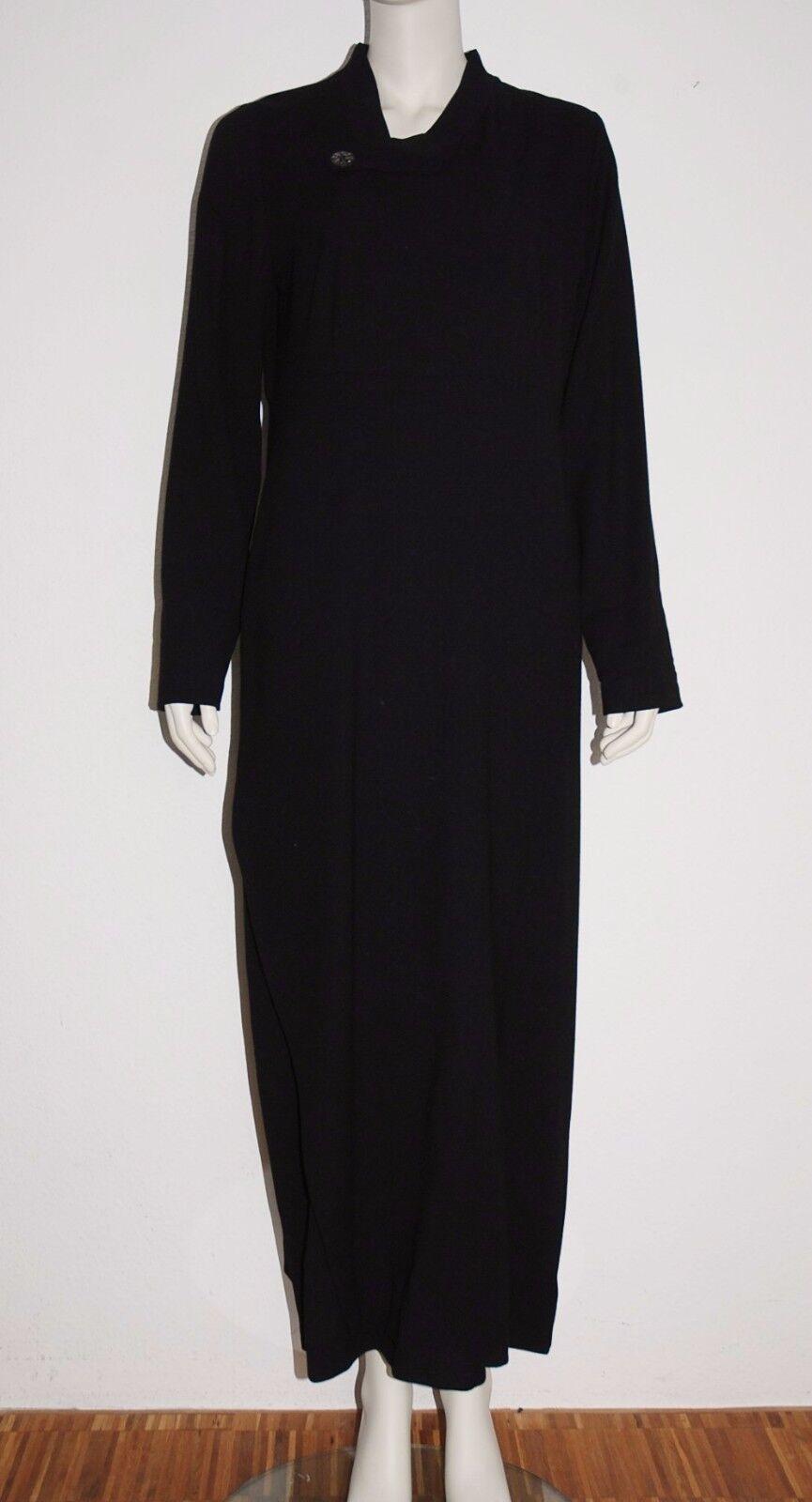 MORITZ by THANH MINH  fast bodenlanges Kleid Schwarz  Designer Robe  M