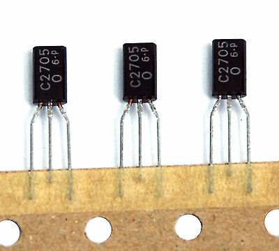 10pc Audio Frequency Amp NPN Transistor 2SC2705 C2705 hfe= O TO-92 Japan