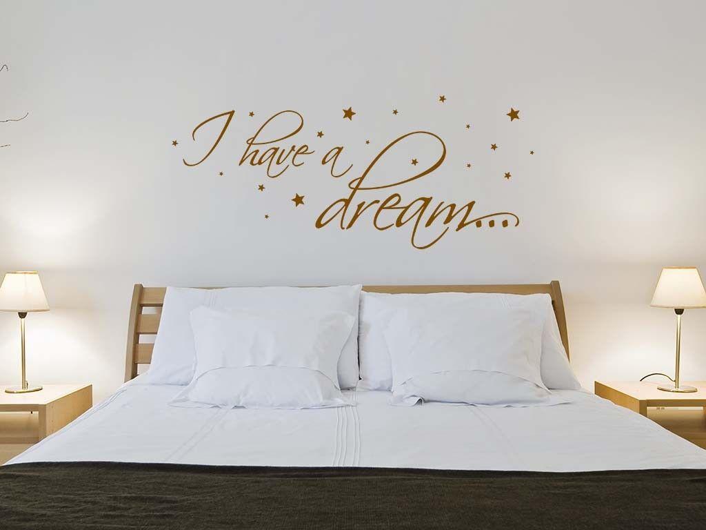 S388 XXL Wandtattoo  I have a dream  aufkleber Sterne Schlafzimmer Spruch
