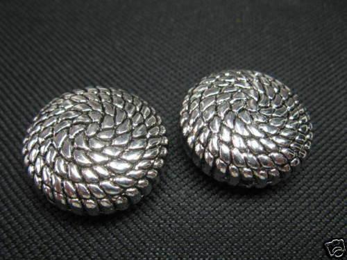 2 Acrylperlen verziert altsilber 25mm Perlen 5502