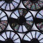 DIY Nail Art Tips Rhinestones Glitters Decor Crystal Mixed Color Manicure Wheel
