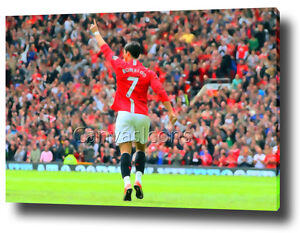Image is loading CRISTIANO-RONALDO-CANVAS-WALL-ART-PRINT-POSTER-PHOTO- & CRISTIANO RONALDO CANVAS WALL ART PRINT POSTER PHOTO MAN UTD UNITED ...