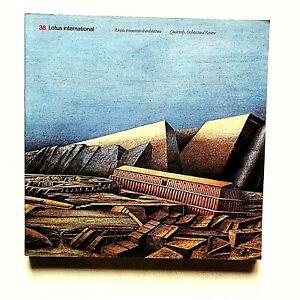 Lotus international n. 39 1983 Rivista Architettura Cimiteri Luigi Ghirri