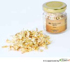 24K-100-Gold-Gilt-Leaf-Powder-Flakes-Edible-Deco-Food-Art-Craft-Beauty-Jar-0-3g