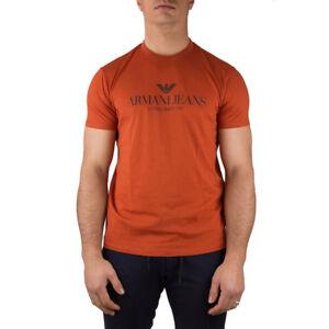 Armani-Jeans-T-Shirt-Uomo-Col-Arancione-tg-L-15-OCCASIONE