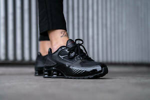 Details about Nike Shox Enigma 9000 Women's Black/Gym Red Trainers in  Various Sizes