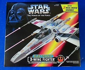 STAR-WARS-Power-Of-The-Force-ELECTRONIC-X-WING-FIGHTER-1995-Kenner-NEW
