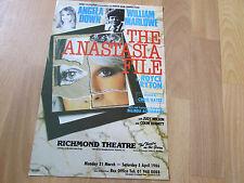 ANASTASIA  File William MARLOWE & DOWN  1986 Richmond Theatre Original Poster