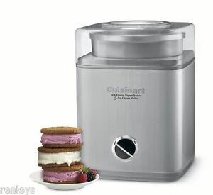 Cuisinart-2-QT-Frozen-Icecream-Yogurt-Sorbet-Ice-Cream-Maker-Automatic-Canister