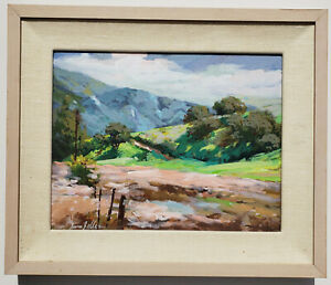 IRWIN-ZELLER-American-1945-2004-Original-SIGNED-California-Landscape-OIL-PAINT