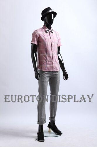G-W3H männlich Schwarz lackiert abstrakte Schaufensterpuppe glänzend Neu Mann Mannequin Sammeln & Seltenes