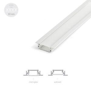 Details zu 100cm ALU Profil EINBAU FLACH Lichtleiste Schiene Einlassprofil  LED Leiste Küche
