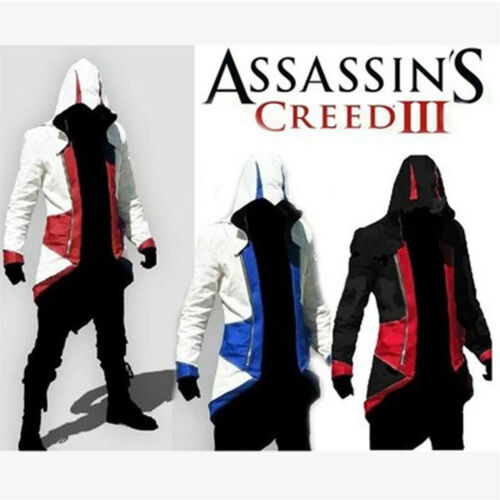 2017 Cool Stylish Creed Hoodie Men/'s Cosplay For Assassins Jacket Coat Costume