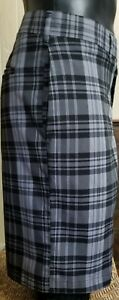 Jack-Nicklaus-Performance-Men-s-Golf-Shorts-Black-And-Grey-Plaid-Size-40