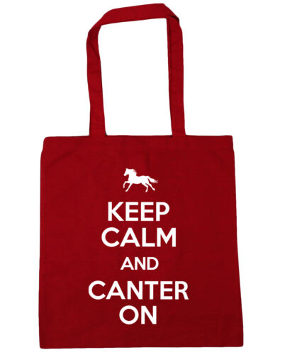 10 l Keep Calm and Canter On Horse Riding Tote Shopping Gym Beach Bag 42cmx38cm