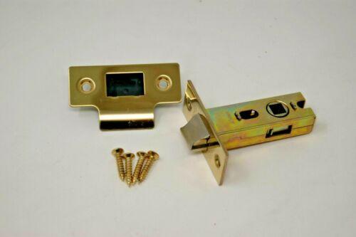 PRTL64PVD Tubular Latch 44.5mm Backset Brass Finish 64mm Length