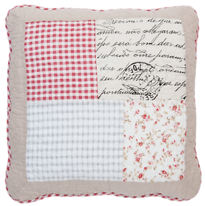 Clayre /& Eef Kissenhülle Quiltkissenhülle Kissenbezug gequiltet 40 x 40 cm