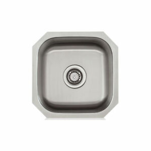 16x16 Stainless Steel Under Mount Kitchen / Bar / Prep Sink Brand ...