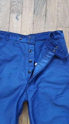 Vintage Blue French Cotton Work Pants Trousers ADO