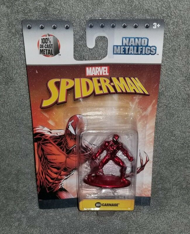 Jada nano metalfigs - gemetzel marvel spider - man 1,65  druckguss actionfigur, usa