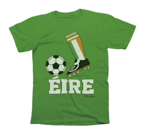 Kids Unisex Football Boot T-Shirt EIRE IRELAND Childrens Top