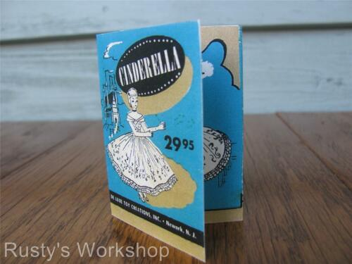 Reproduction 1950/'s Deluxe Reading CINDERELLA Booklet// TAG